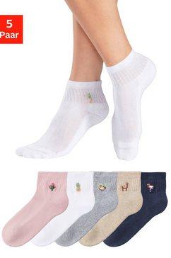 h.i.s korte sokken (5 paar) grijs