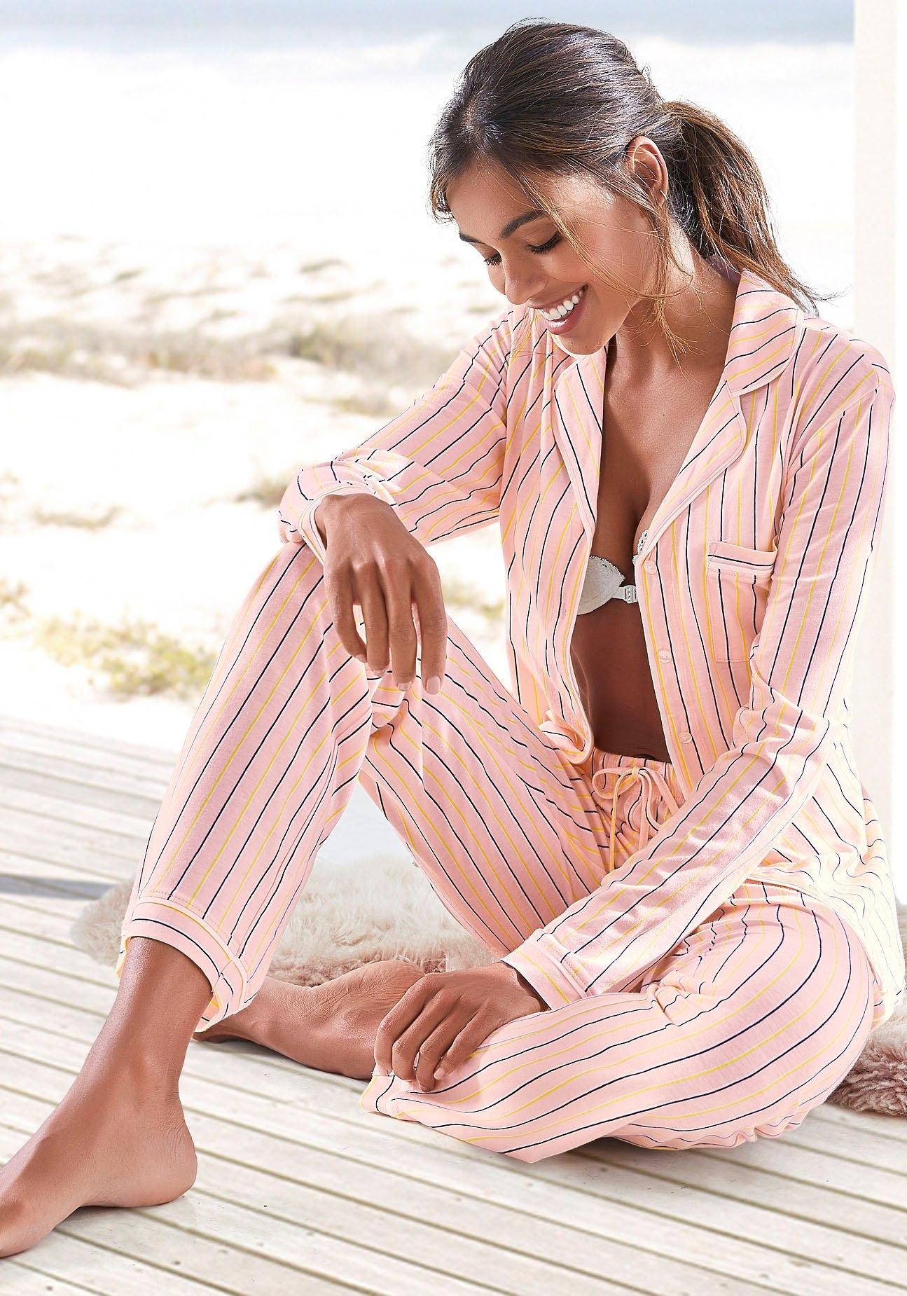 s.Oliver RED LABEL Bodywear Pyjama klassiek streepdesign voordelig en veilig online kopen