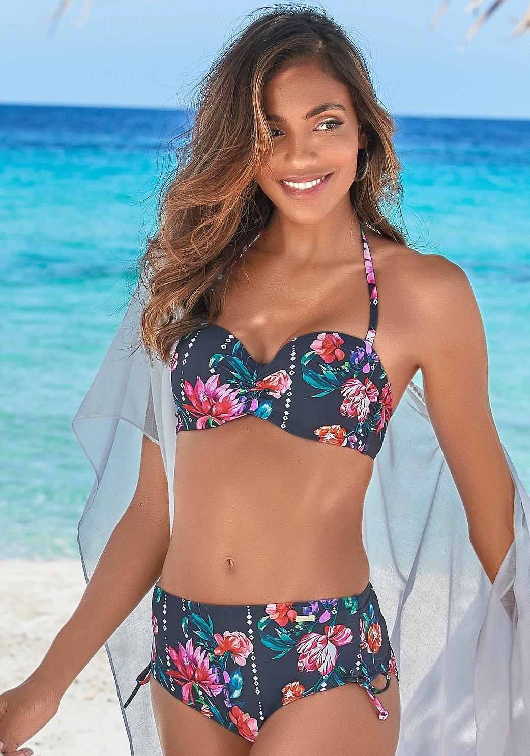 Sunseeker beugelbikinitop in bandeaumodel Modern met bloemenprint in de webshop van Lascana kopen