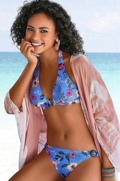 s.oliver red label beachwear triangel-bikinitop maya met ring van hoorn-look blauw