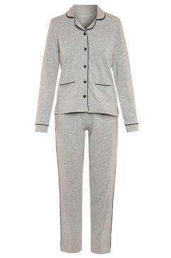 seidensticker pyjama met contrasterende paspel-details grijs