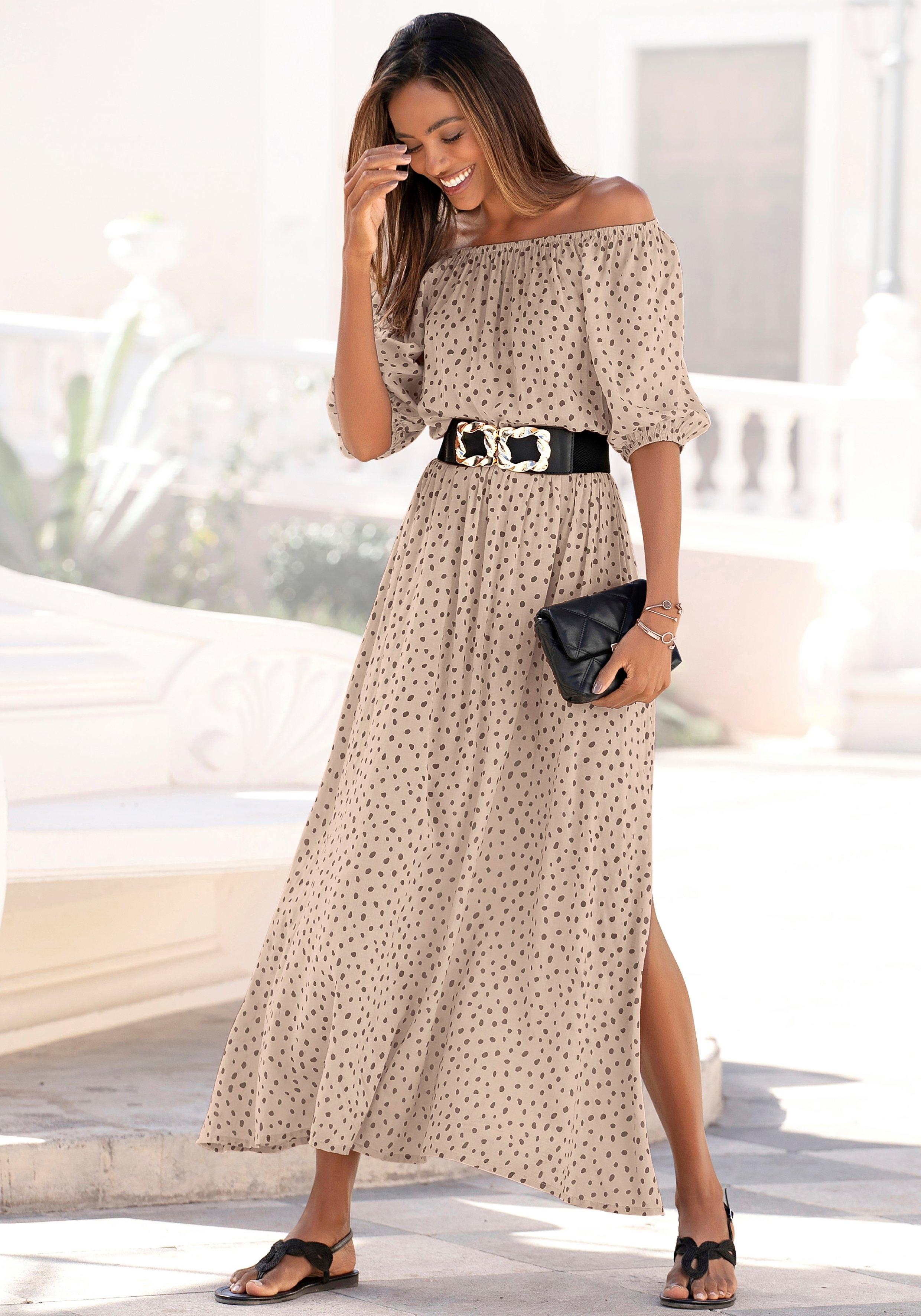 Lascana Maxi-jurk met stijlvolle stippeltjesprint bij Lascana online kopen