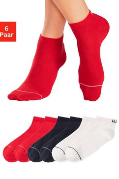 h.i.s korte sokken met glinsterend logo (6 paar) blauw