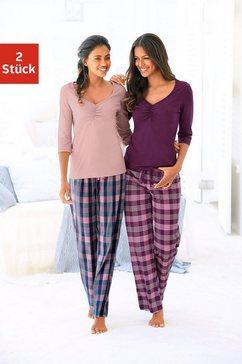 petite fleur pyjama met geruite broek (set van 2) multicolor
