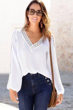 vivance gekreukte blouse wit