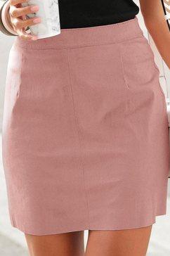 lascana minirok in suède-look roze