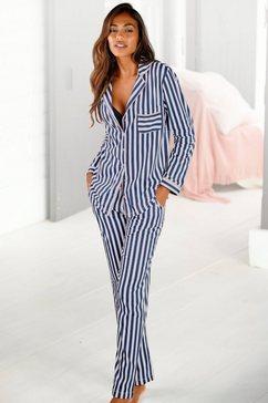 h.i.s pyjama in een klassiek model met streepdessin wit