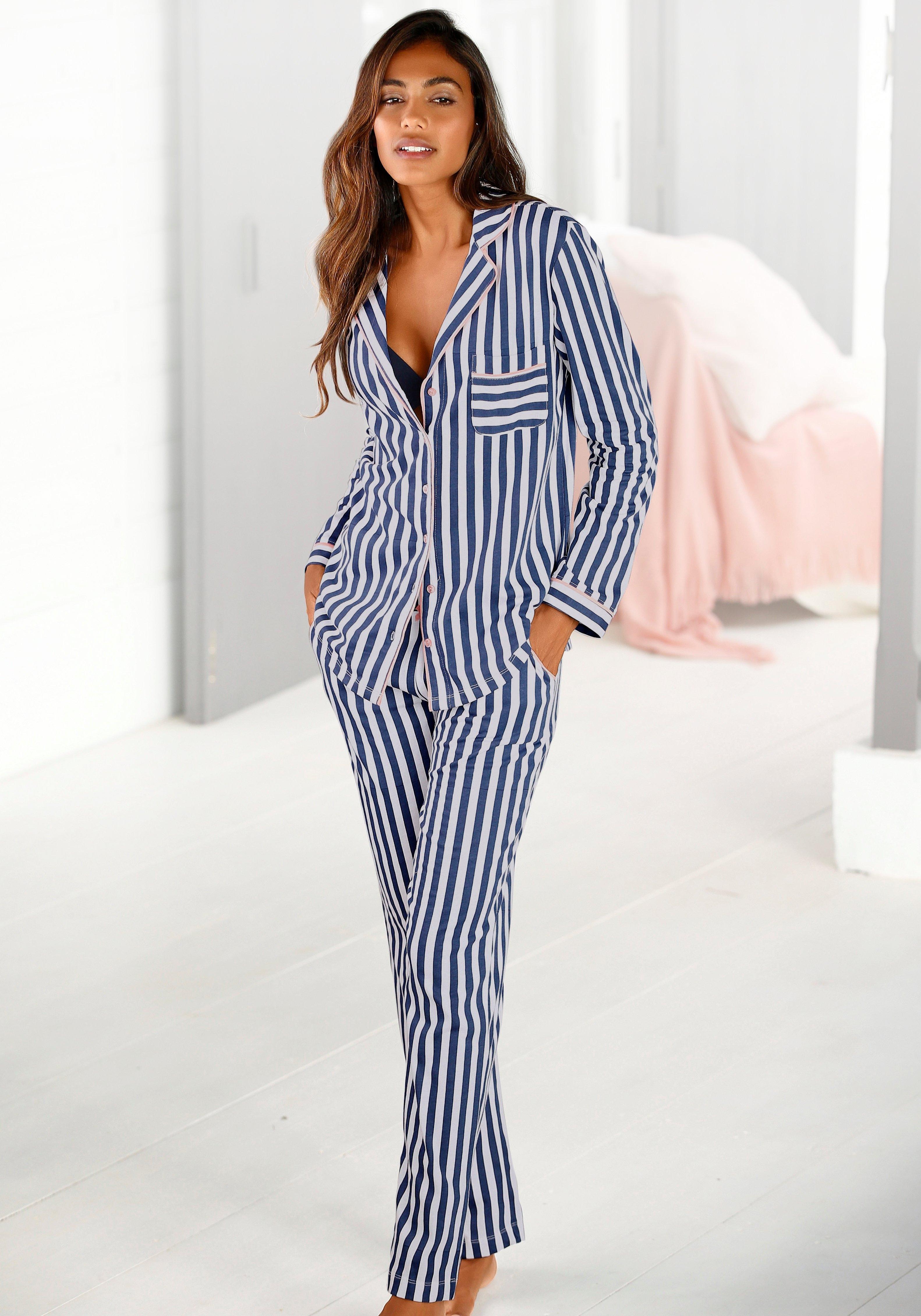 H.I.S Pyjama in een klassiek model met streepdessin nu online kopen bij Lascana