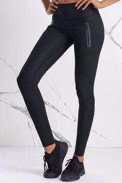 active by lascana legging met ritszakken zwart