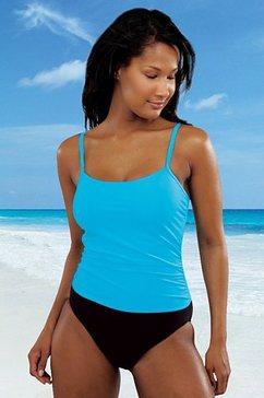lascana badpak in tankini-look blauw