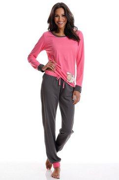 nici pyjama met contrastkleurige details roze