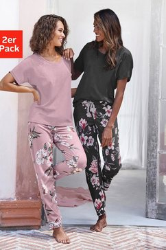 vivance collection pyjama (set van 2) paars