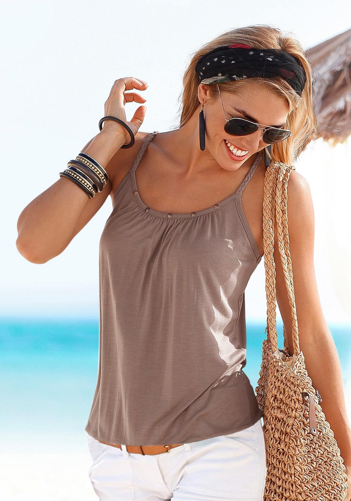Op zoek naar een Buffalo strandtop met garnering bij de hals? Koop online bij Lascana