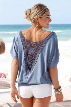 lascana shirt met haakdetail achter blauw