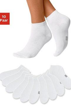 h.i.s korte sokken met verstevigde hiel en teen (10 paar) wit