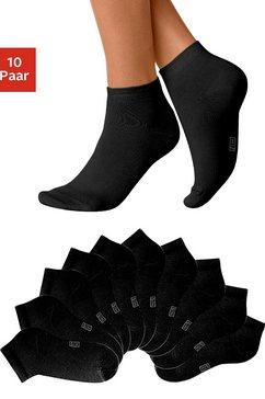 h.i.s korte sokken (10 paar) zwart