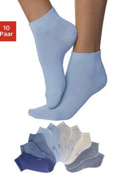 h.i.s korte sokken met verstevigde hiel en teen (10 paar) blauw