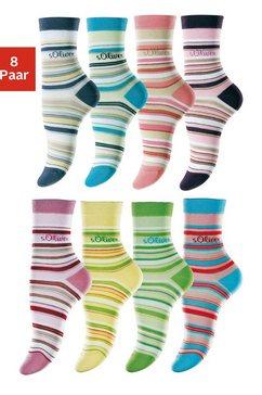 Gestreepte sokken, set van 8 paar