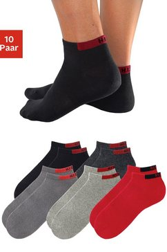 h.i.s korte sokken (set van 10 paar) met verstevigde drukzones grijs