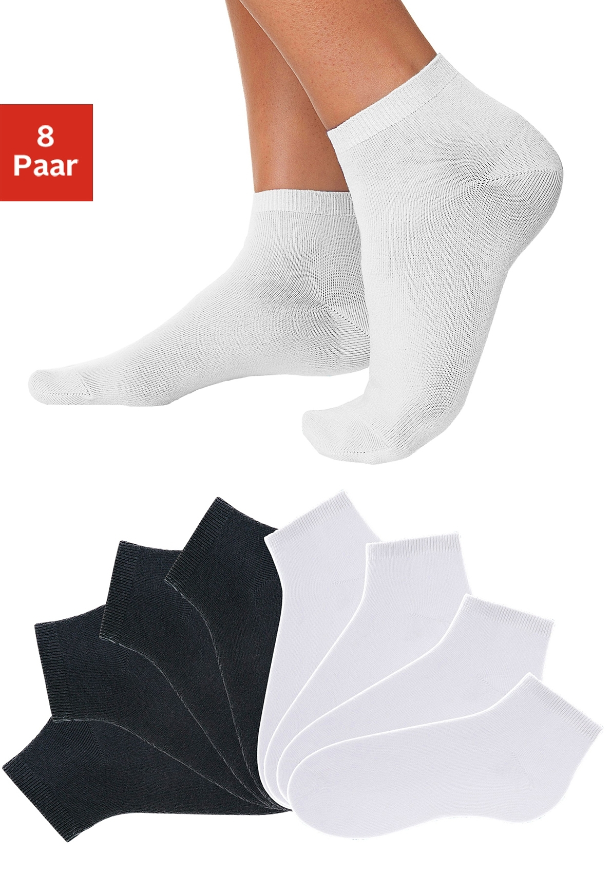 Go in Korte sokken uni in basic kleuren (8 paar) veilig op lascana.nl kopen
