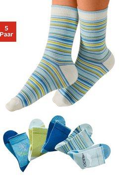 sokken, set van 5 paar, h.i.s blauw