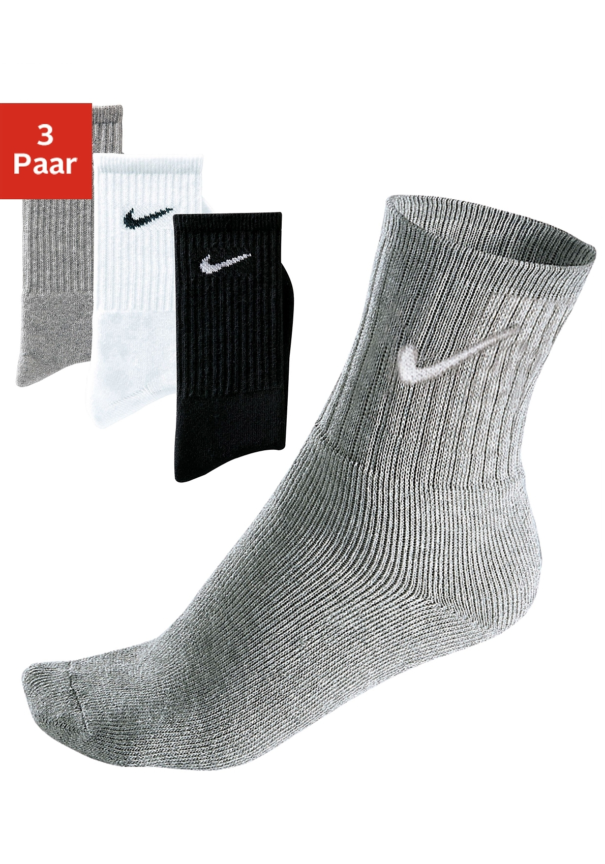 Nike Sportsokken met frotté (3 paar) goedkoop op lascana.nl kopen