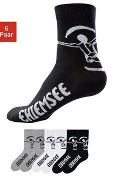 basic sokken, chiemsee, set van 3 of 6 paar multicolor