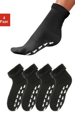go in abs-sokken met antislipzool en frotté (4 paar) zwart