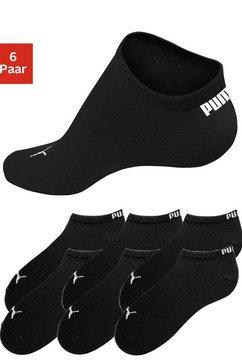 puma sneakersokken in klassieke vorm (6 paar) zwart
