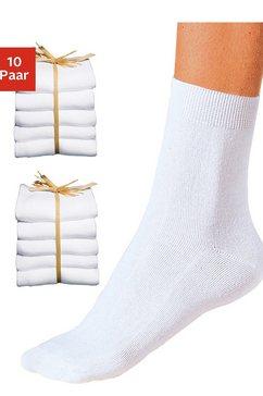 sokken, set van 10 paar wit