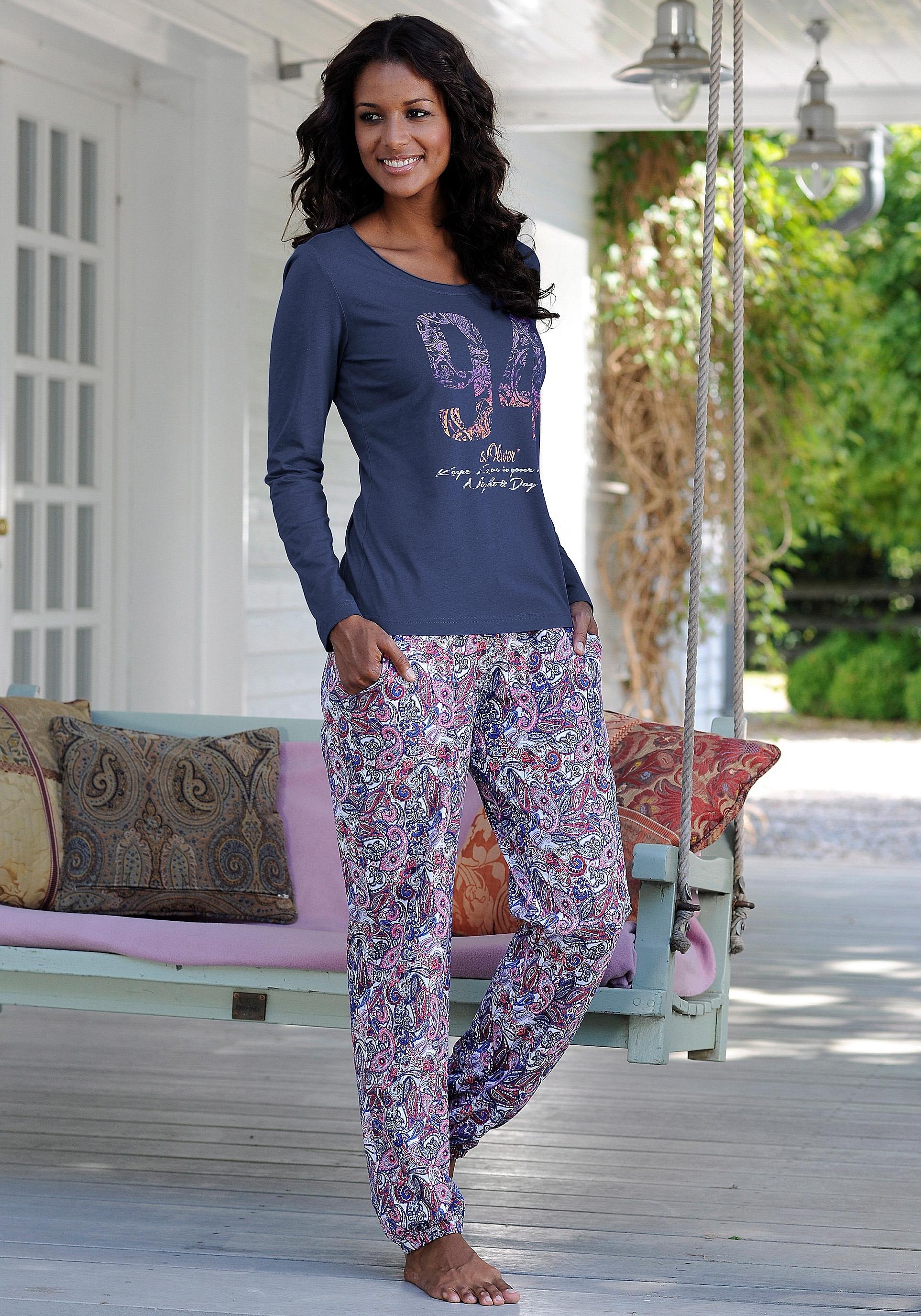 s.Oliver RED LABEL S.OLIVER Pyjama met paisleyprint allover bij Lascana online kopen