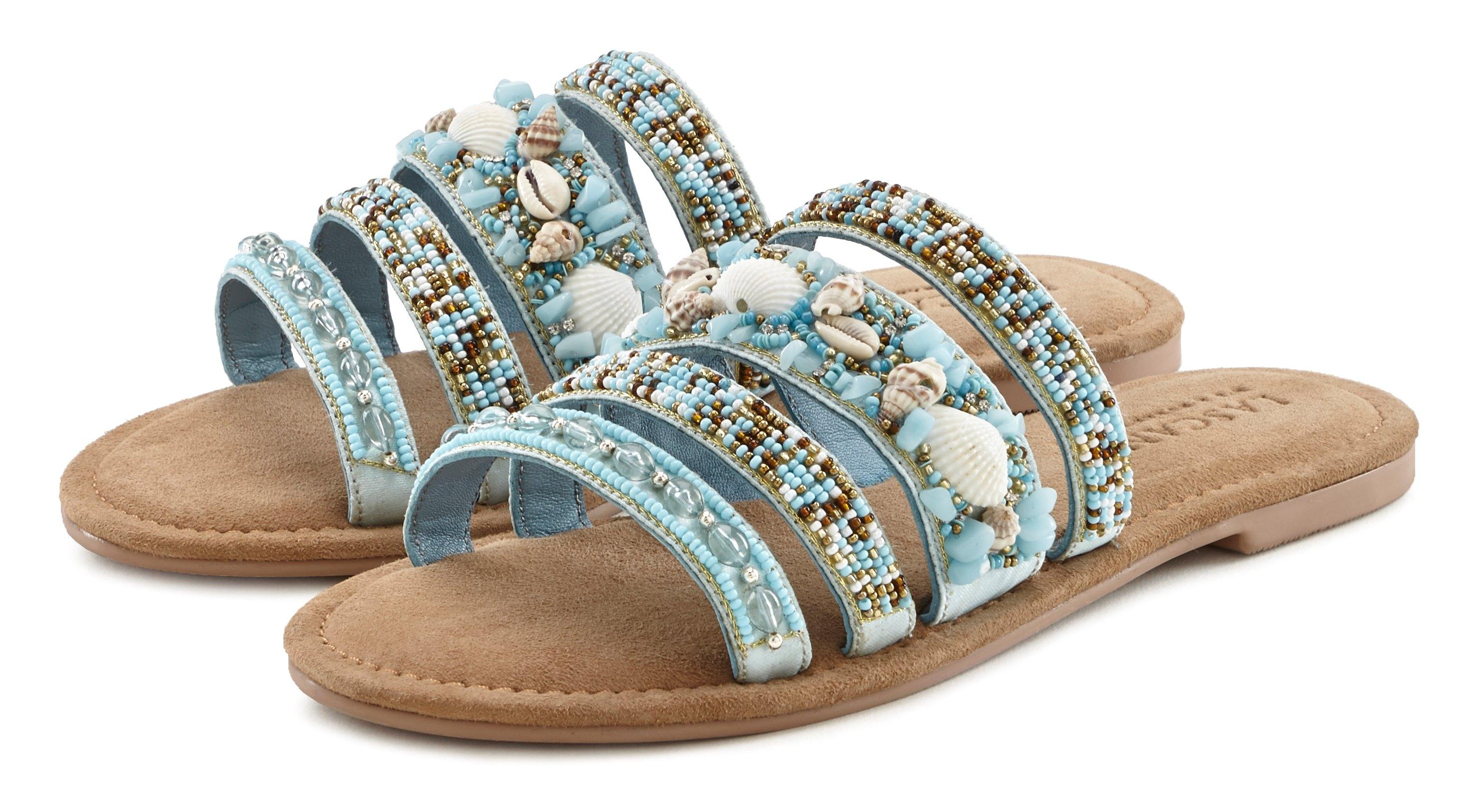 Lascana Slippers met een luxueuze garnering en bijzonder zachte binnenzool veilig op lascana.nl kopen