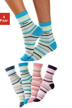 Gestreepte sokken, set van 4 paar