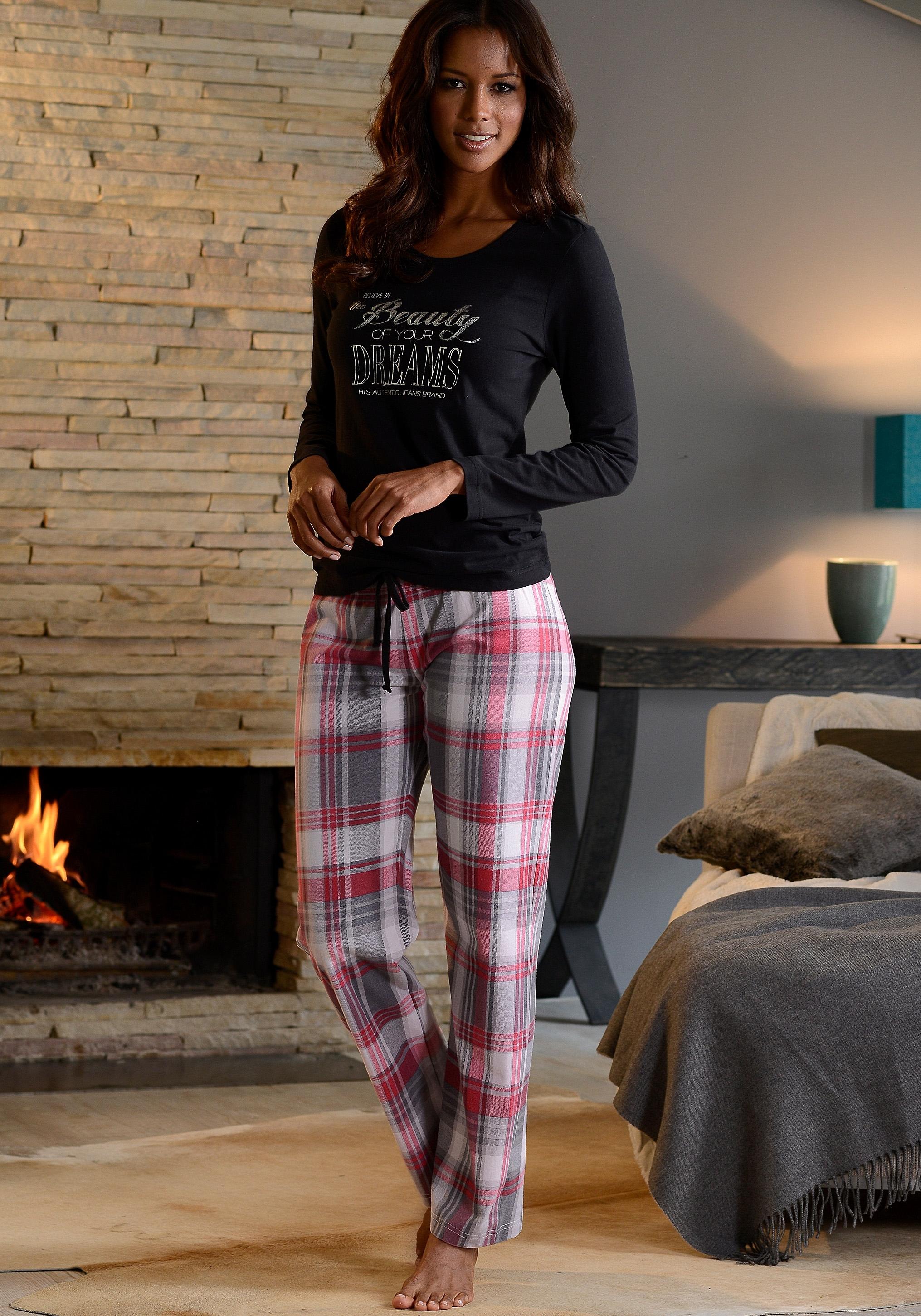H.I.S Pyjama van puur katoen - gratis ruilen op lascana.nl