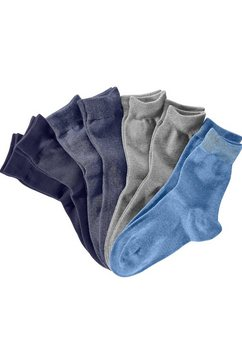 s.oliver red label beachwear business-sokken in een praktisch blikje (blik, 7 paar) blauw