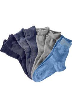 s.oliver red label bodywear vrijetijds- en businesssokken (set van 7 paar) in een blik blauw