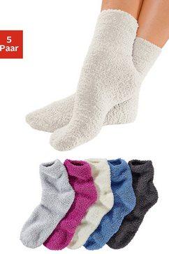 lavana wellness-sokken ideaal als bedsokken (5 paar) multicolor