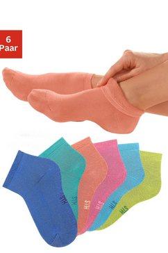 h.i.s korte sokken met heerlijk zachte frottébinnenkant (6 paar) multicolor