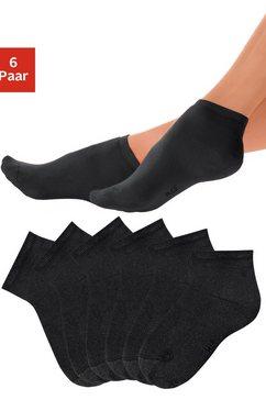 h.i.s korte sokken met heerlijk zachte frottébinnenkant (6 paar) zwart
