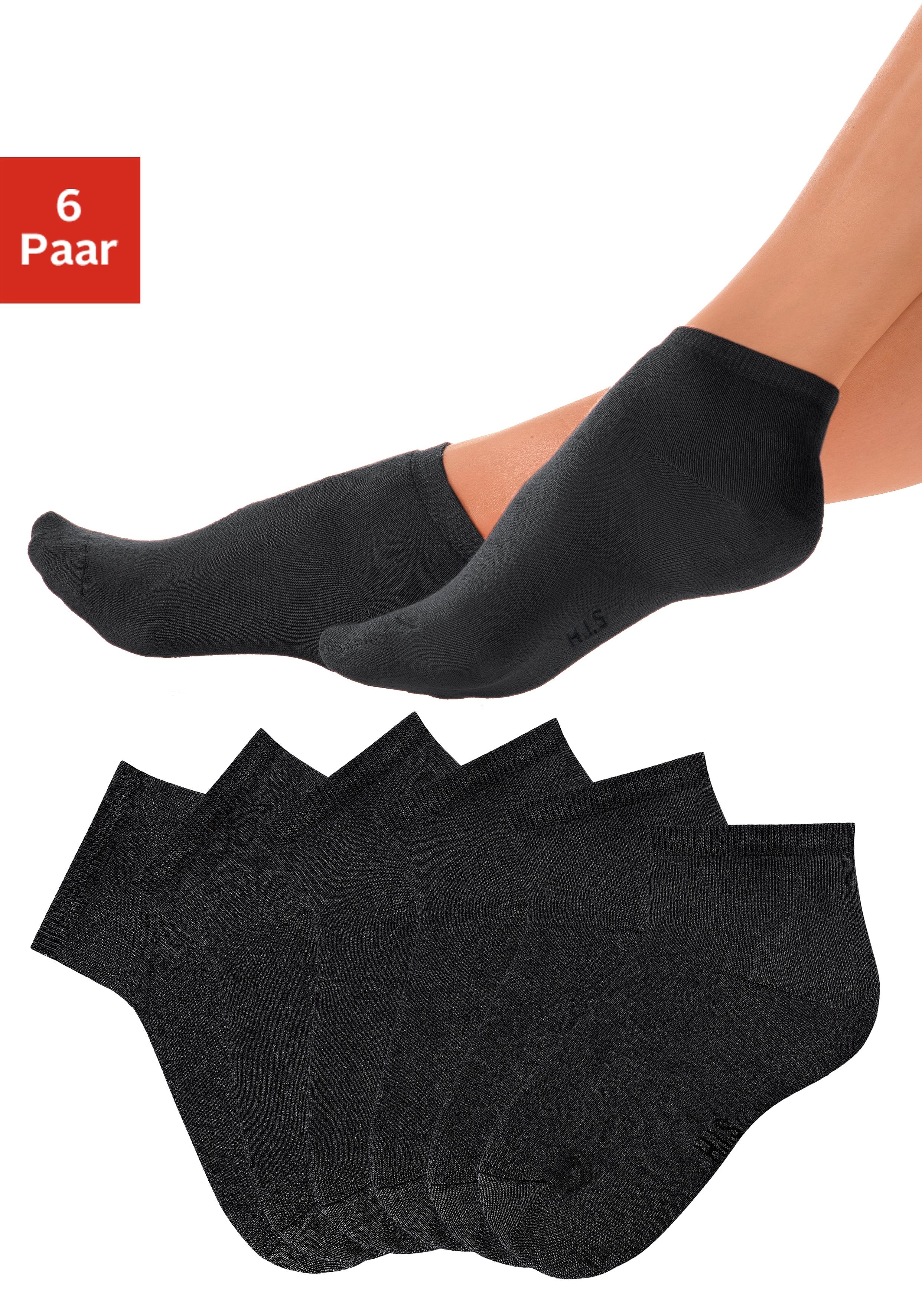 H.I.S korte sokken met heerlijk zachte frottébinnenkant (6 paar) - verschillende betaalmethodes