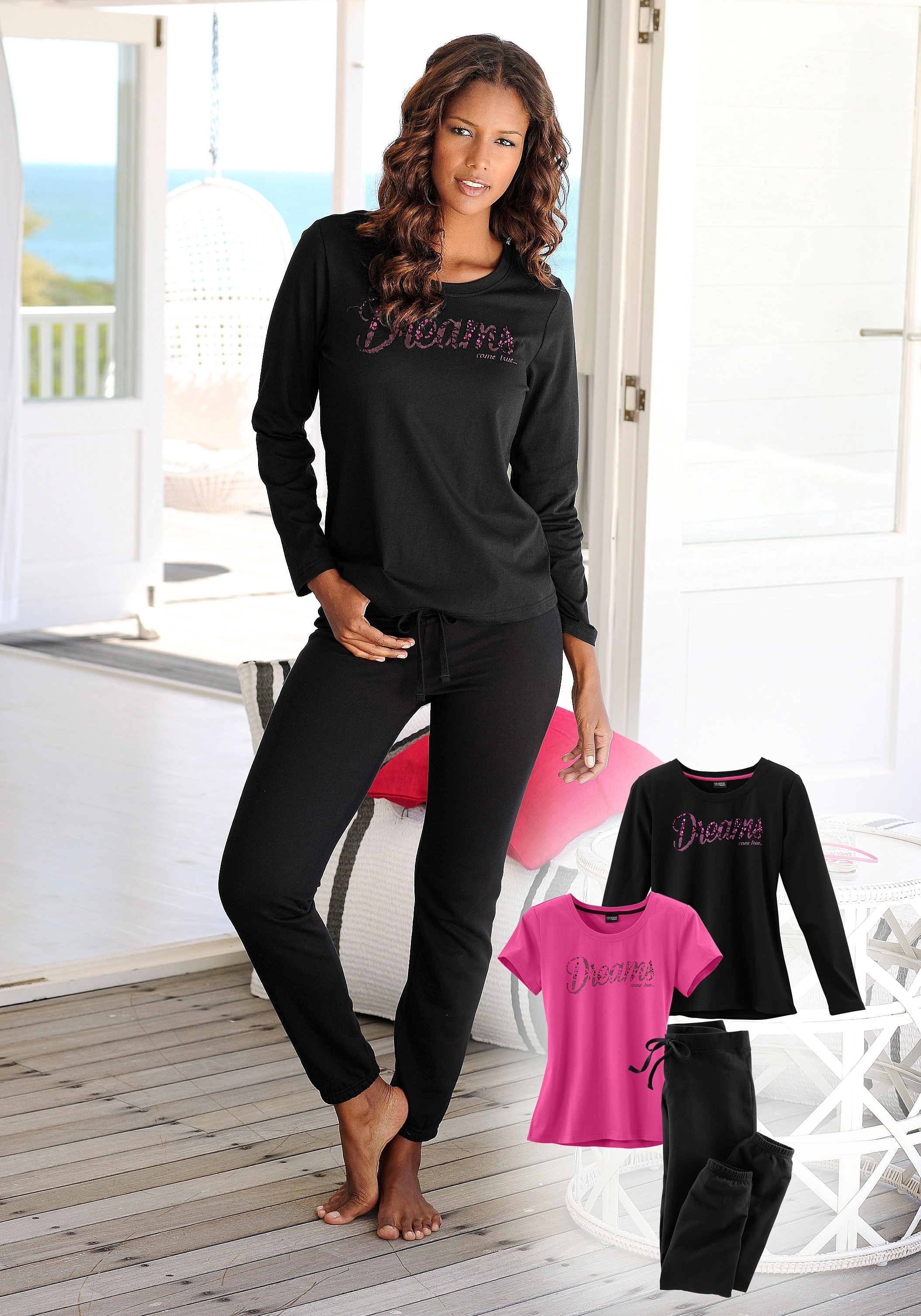 Vivance Collection VIVANCE DREAMS Pyjama in 3-delige set bij Lascana online kopen
