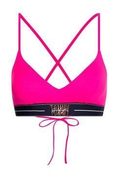 tommy hilfiger triangel-bikinitop met gekruiste bandjes roze