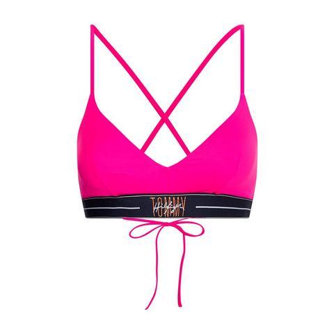 Tommy Hilfiger triangel-bikinitop met gekruiste bandjes