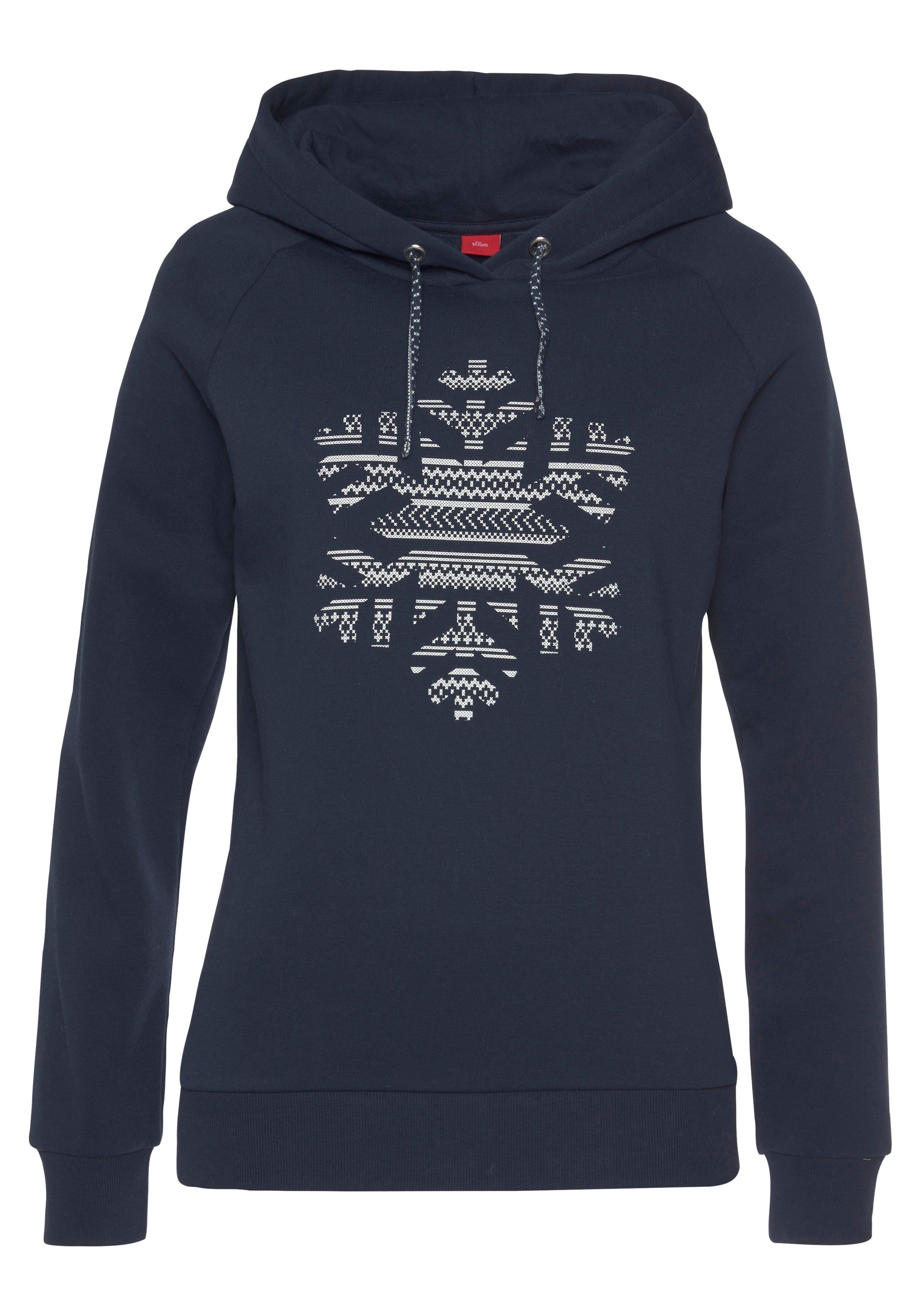s.Oliver RED LABEL Beachwear hoodie met sneeuwvlokkenprint voor voordelig en veilig online kopen