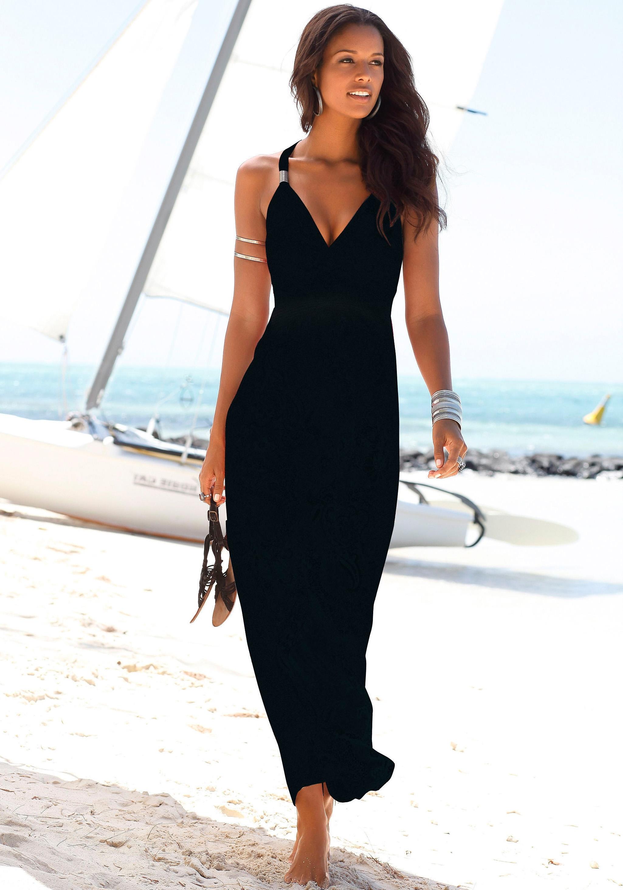 Lascana Maxi-jurk met verstelbare hals online kopen op lascana.nl