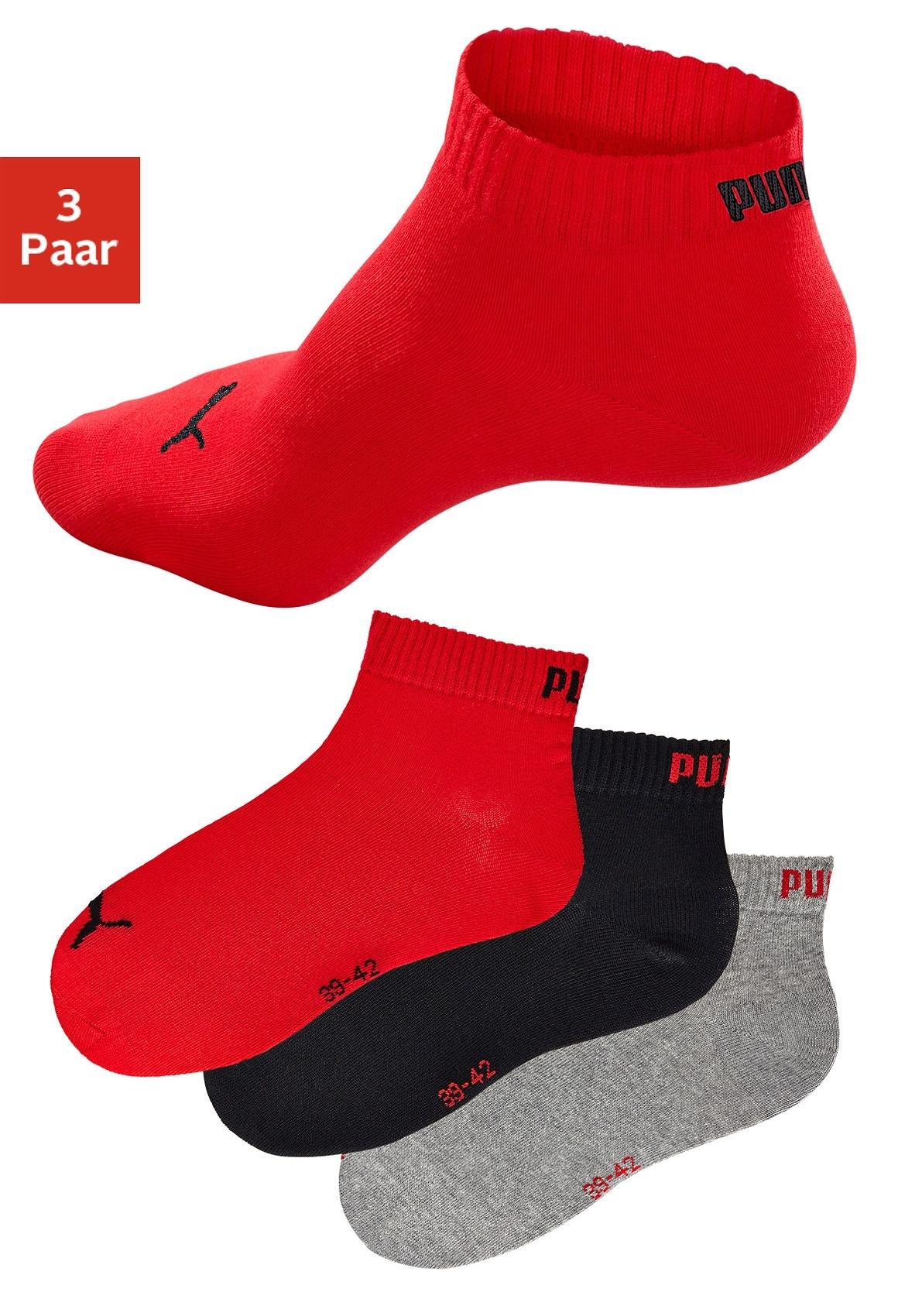 PUMA sportieve korte sokken (set van 3 paar) met ribboord online kopen op lascana.nl
