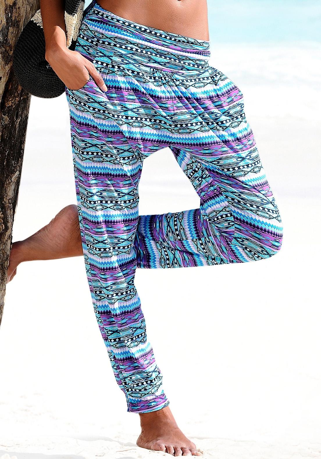 s.Oliver Beachwear s.Oliver RED LABEL Beachwear strandbroek met etnomotief goedkoop op lascana.nl kopen