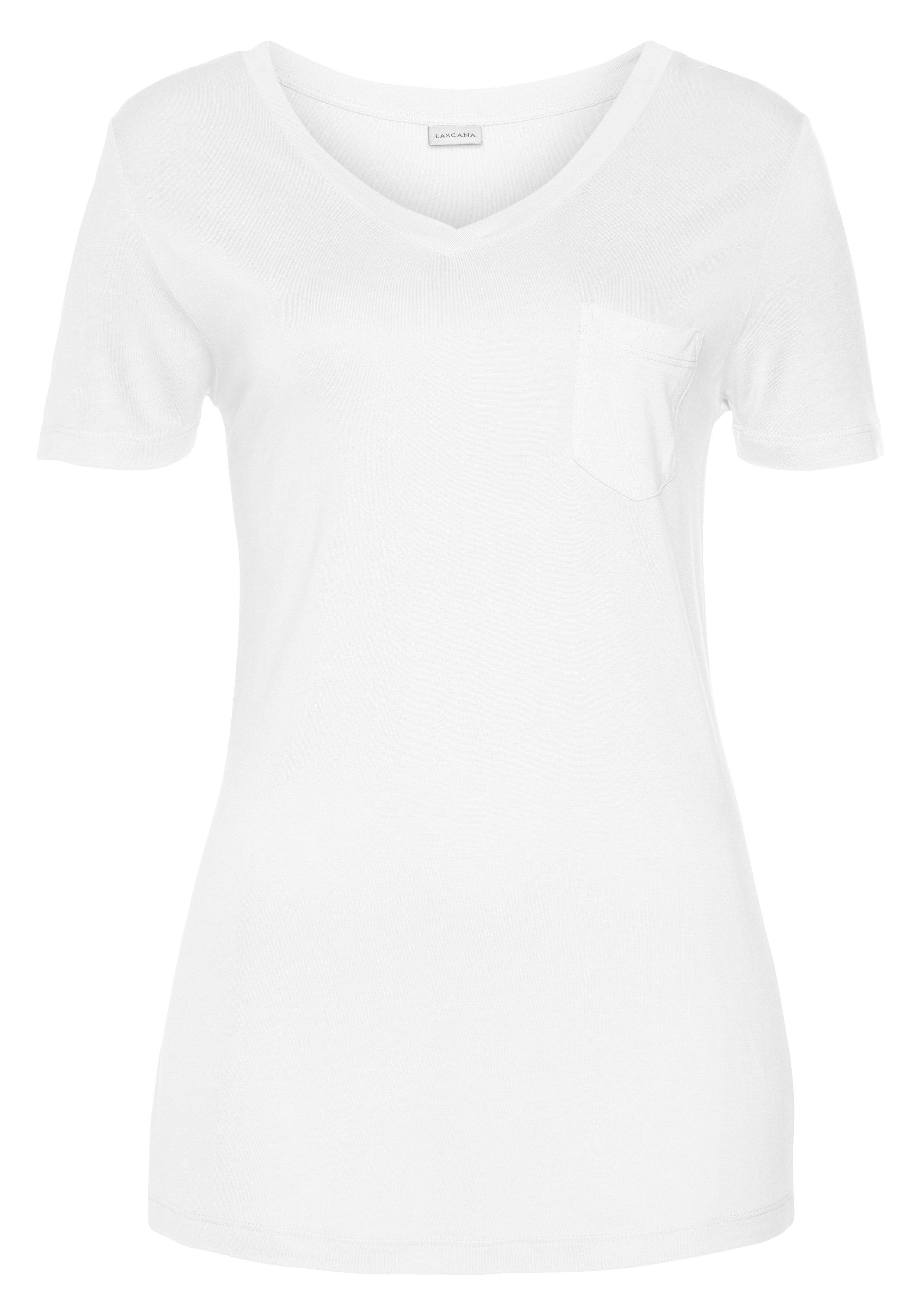 Lascana shirt met V-hals van duurzame viscose goedkoop op lascana.nl kopen