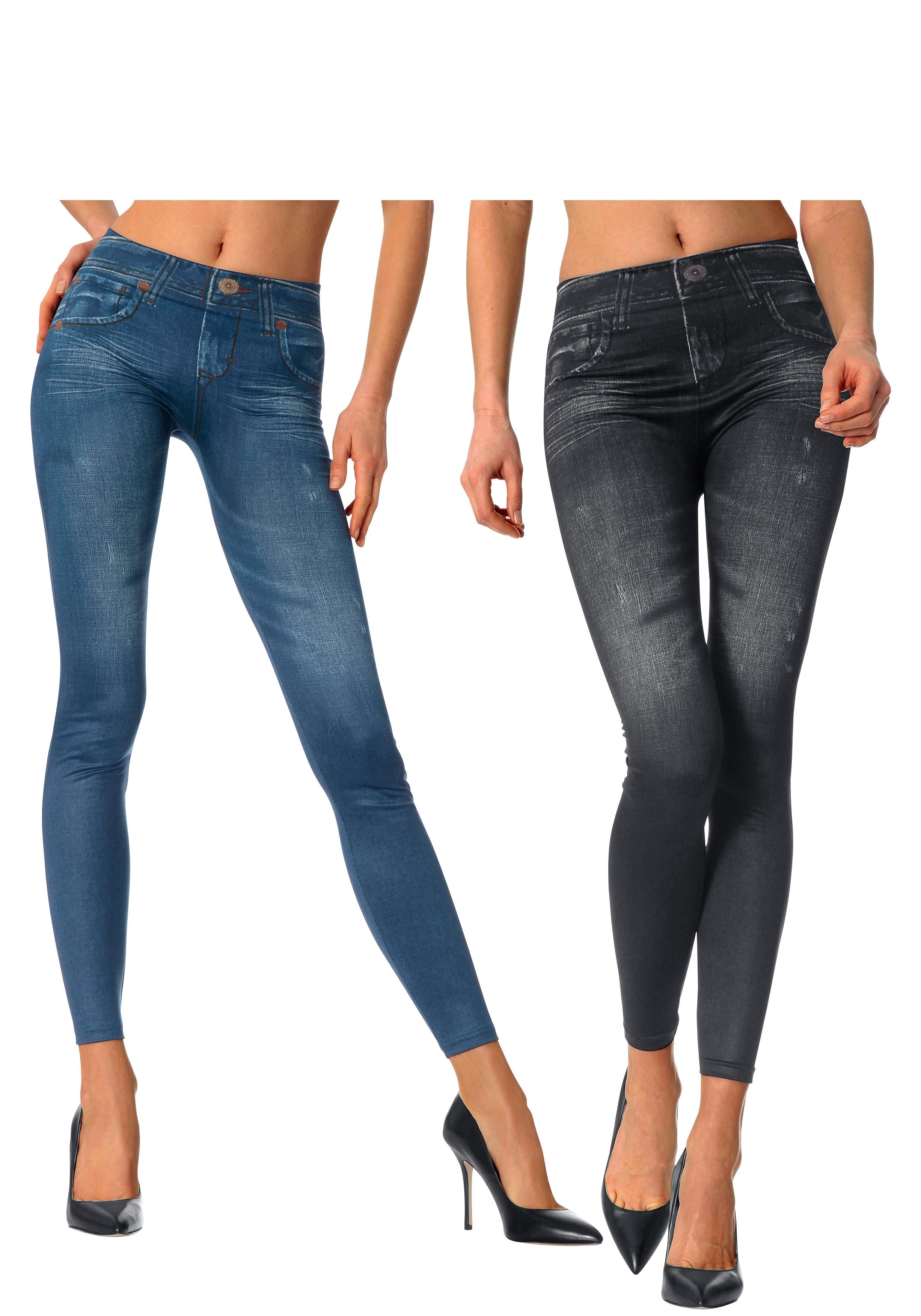 Slim-jegging in jeans-look set van 2 veilig op lascana.nl kopen