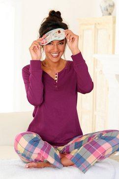 h.i.s pyjama in flanelkwaliteit rood